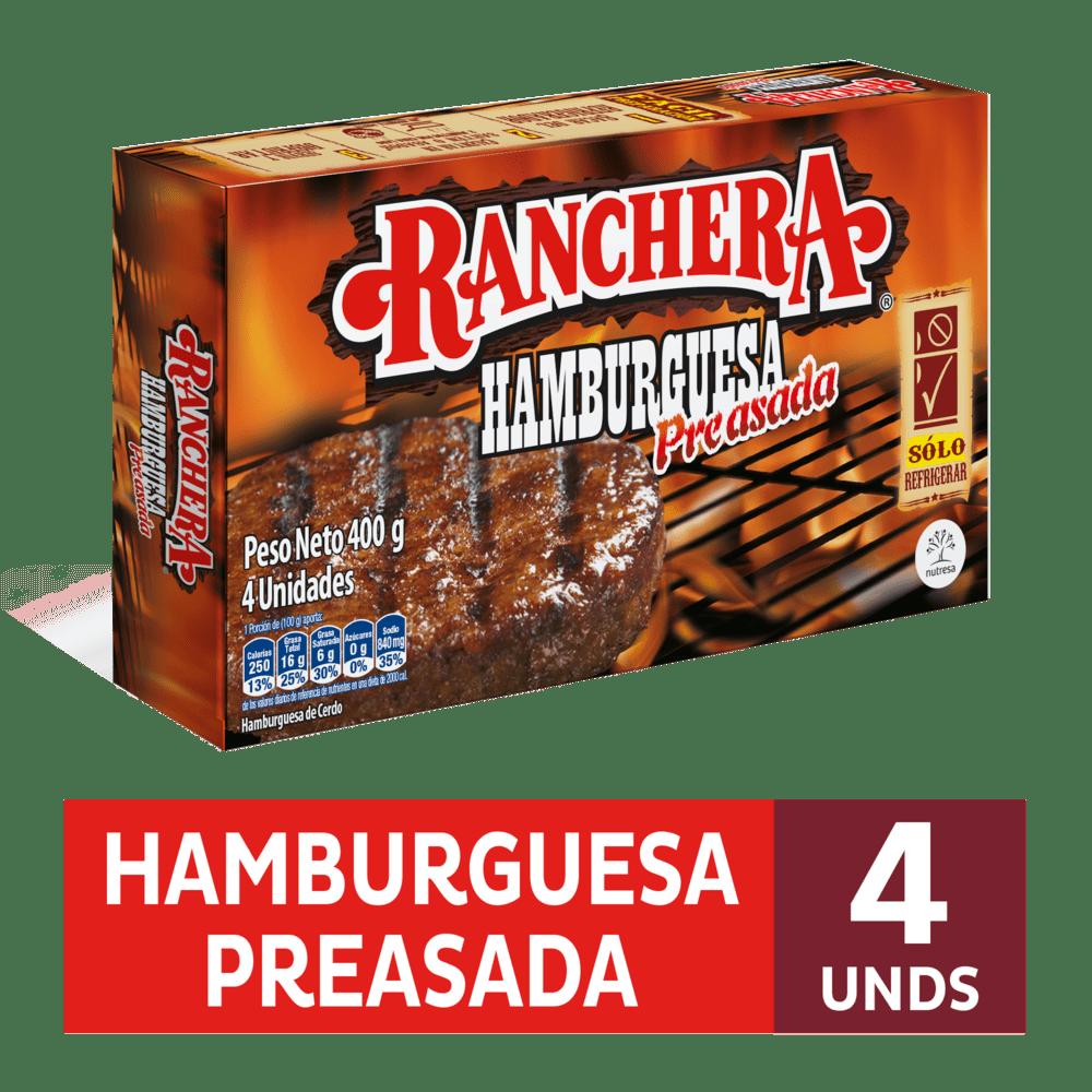 Hamburguesa Ranchera Zenu 400 G