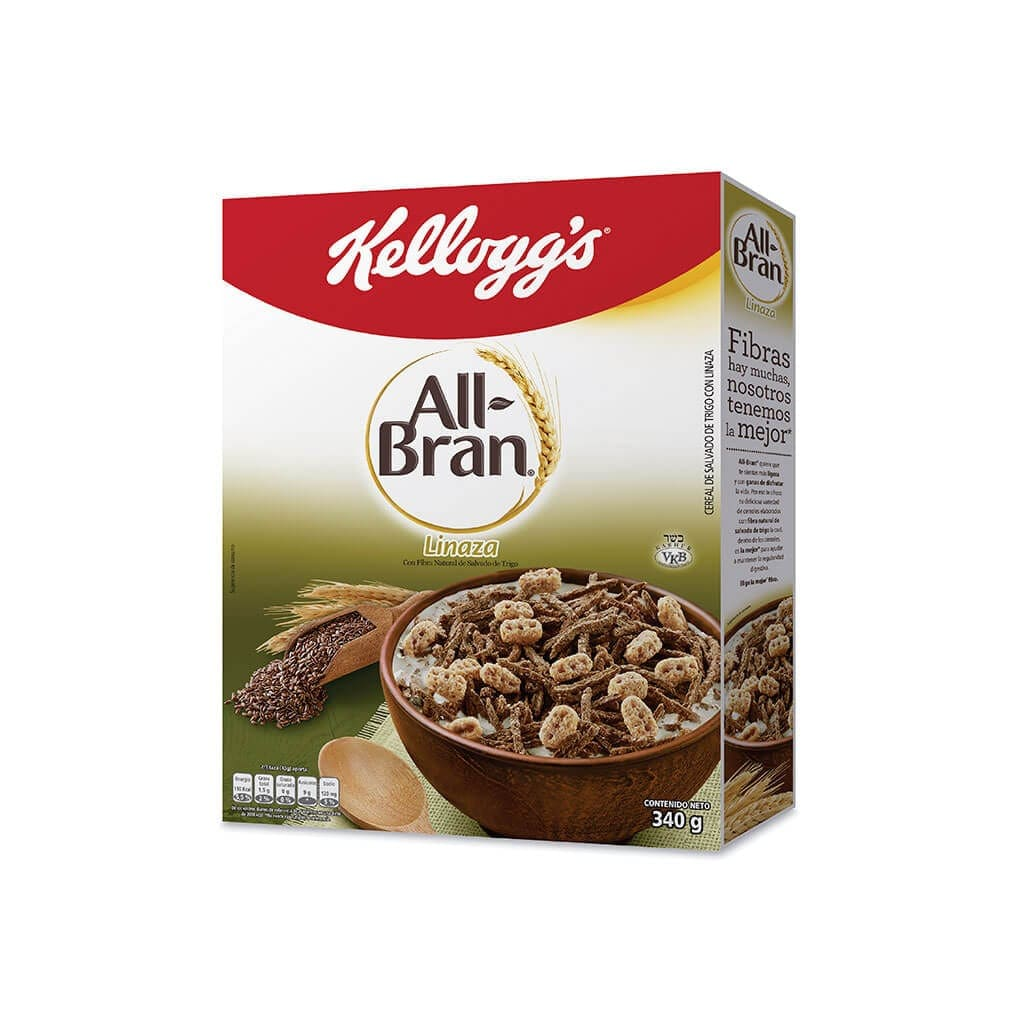 Cereal All Bran Kellogs Linaza 340 G