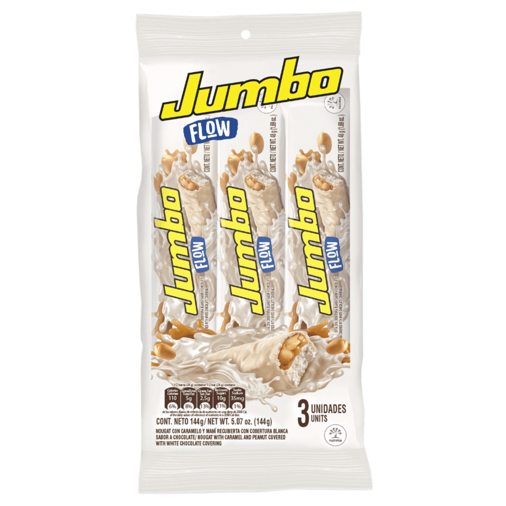 Chocolatina Jet Jumbo Flow  X 3Und Paq /144 G