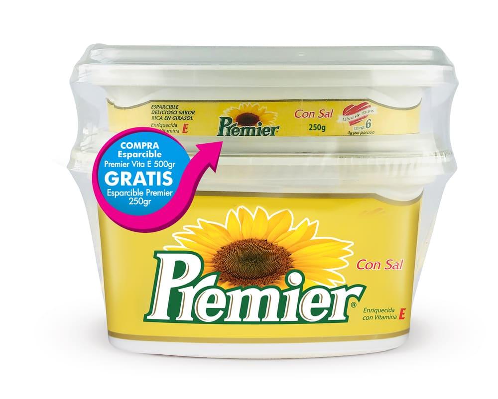 Esparcible Premier Vitamina E 500 G +Margarina 250 G Premier