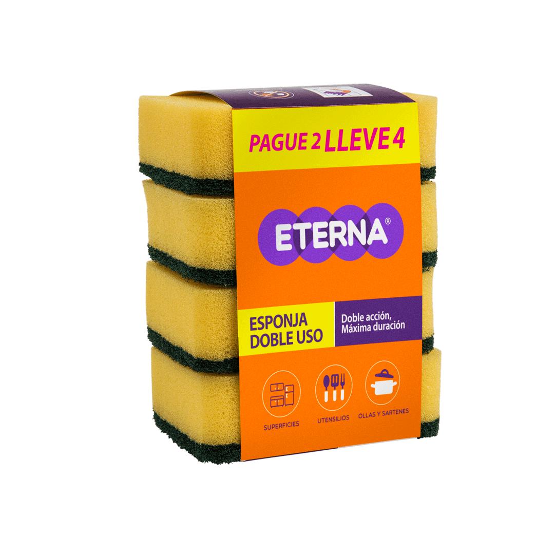 Esponja Multiusos Antibacterial Pague1 Lleve3 Eterna