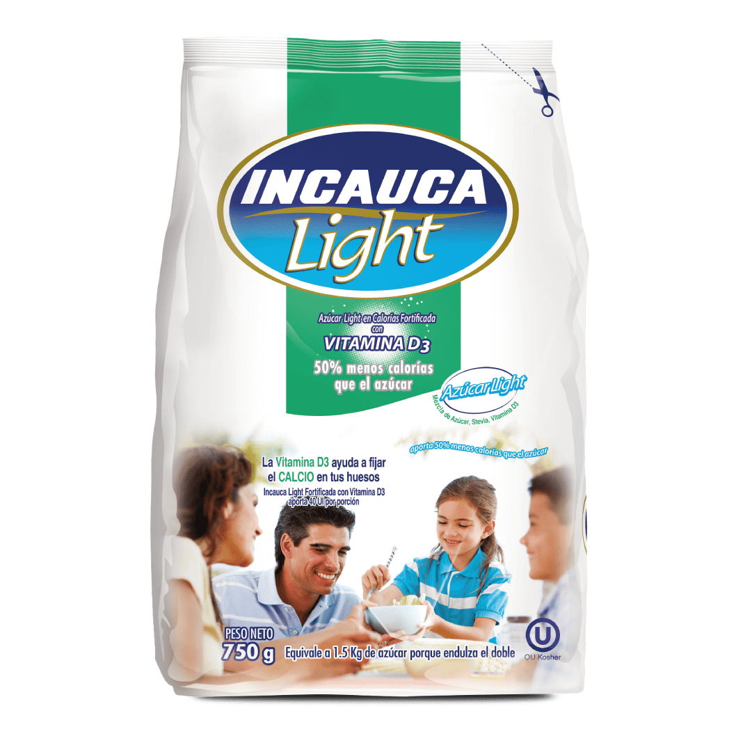 Azúcar  Incauca Light Fortificada Blanca Bolsa 750 G