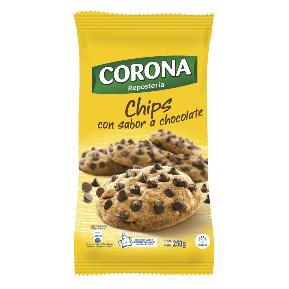 Chips De Chocolate Corona 250 G