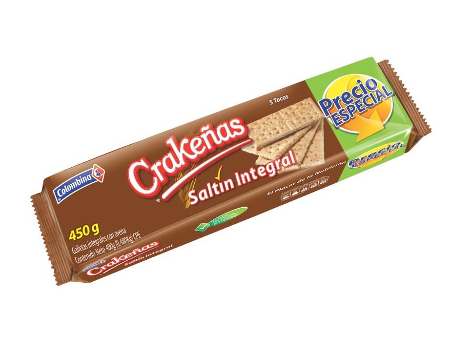 Galletas  Crakeñas Saltín Integral Precio Especial 480 G