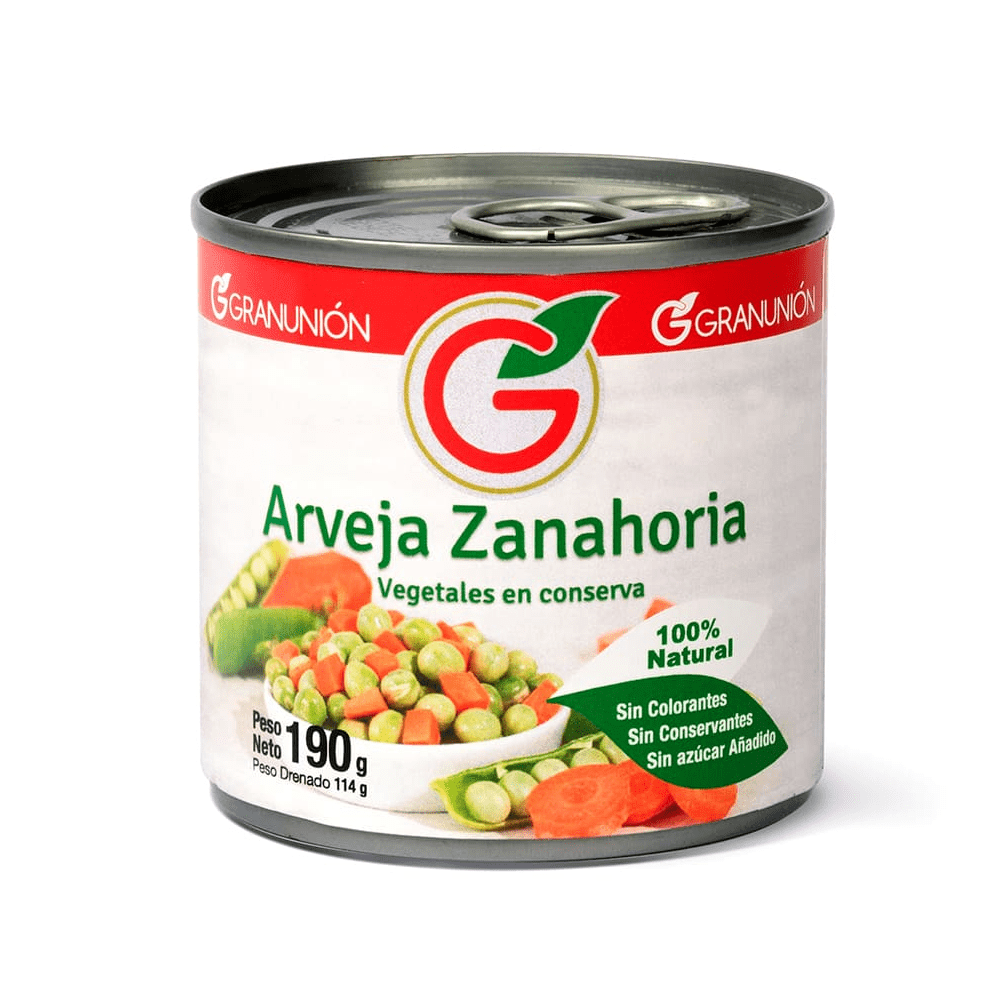 Arveja Zanahoria Gran Unión 190 G