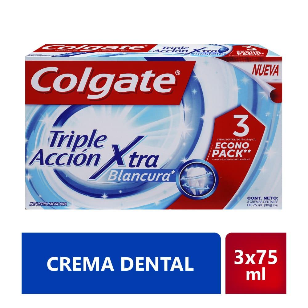 Crema Colgate 3X75 Ml Triple Acción Extrema Blancura