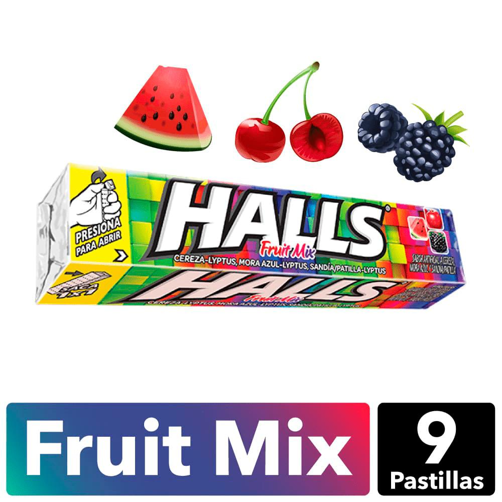 Halls Fruit Mix X9 Und