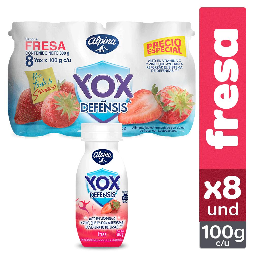 Multiempaque X8 Und Yox Fresa Botella 100G