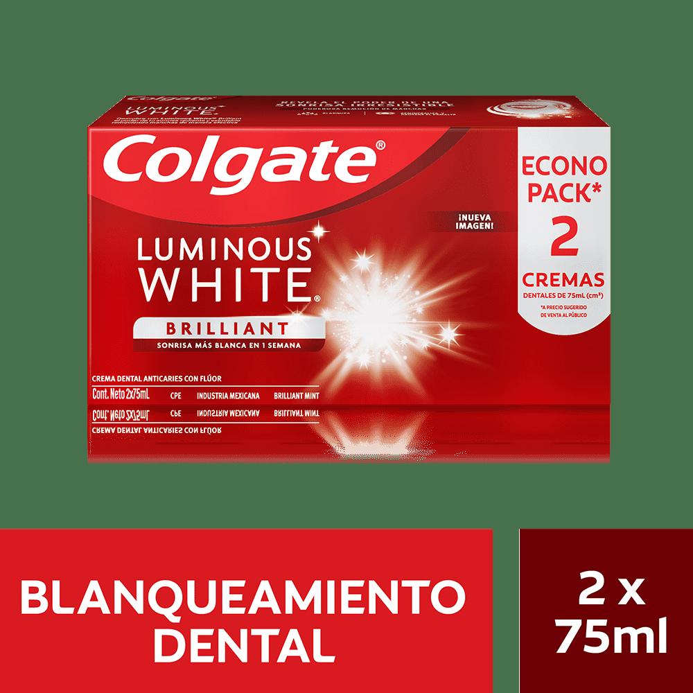 Crema Colgate 2X75 Ml Luminous White Precio Especial