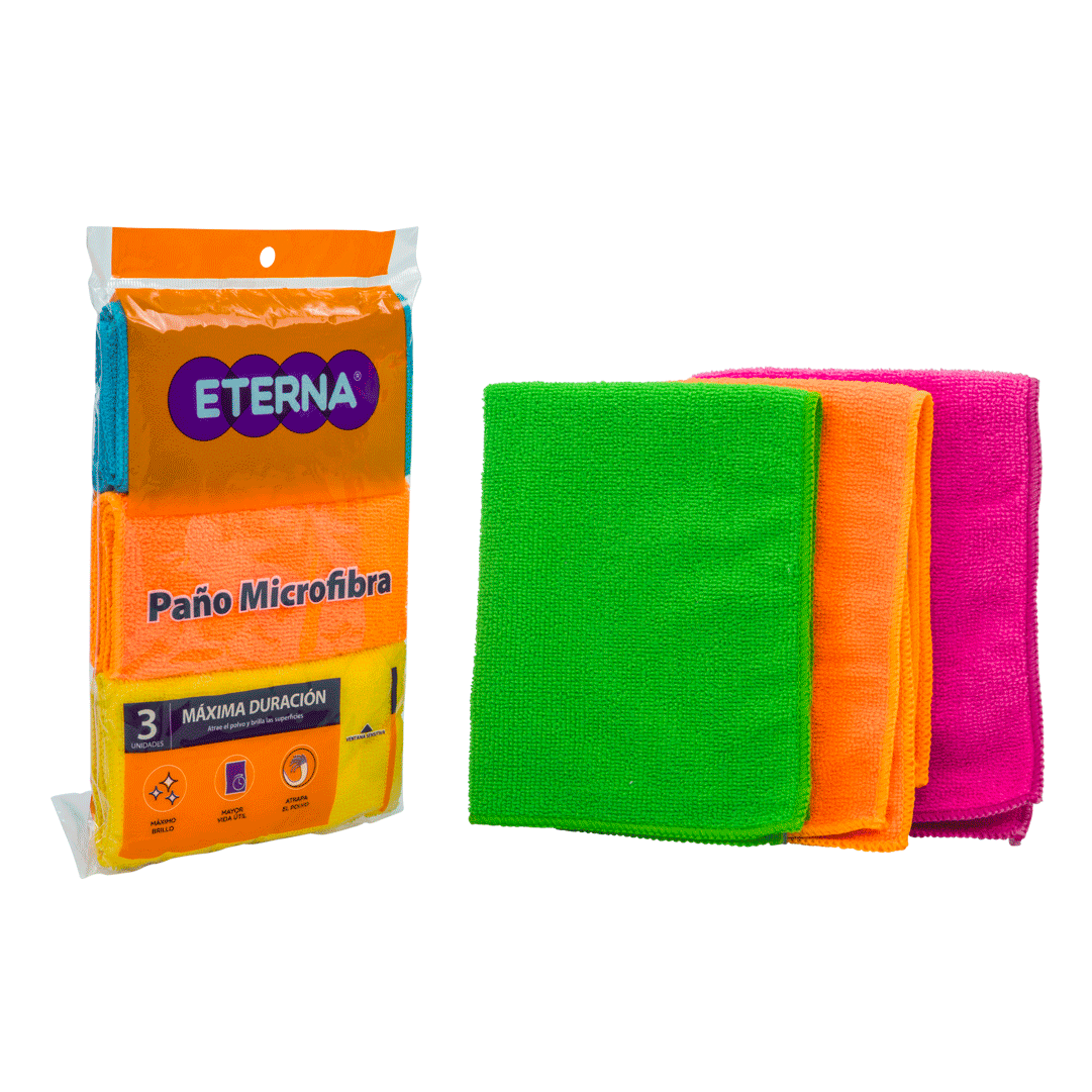 Paño Eterna Microfibra 3 Und