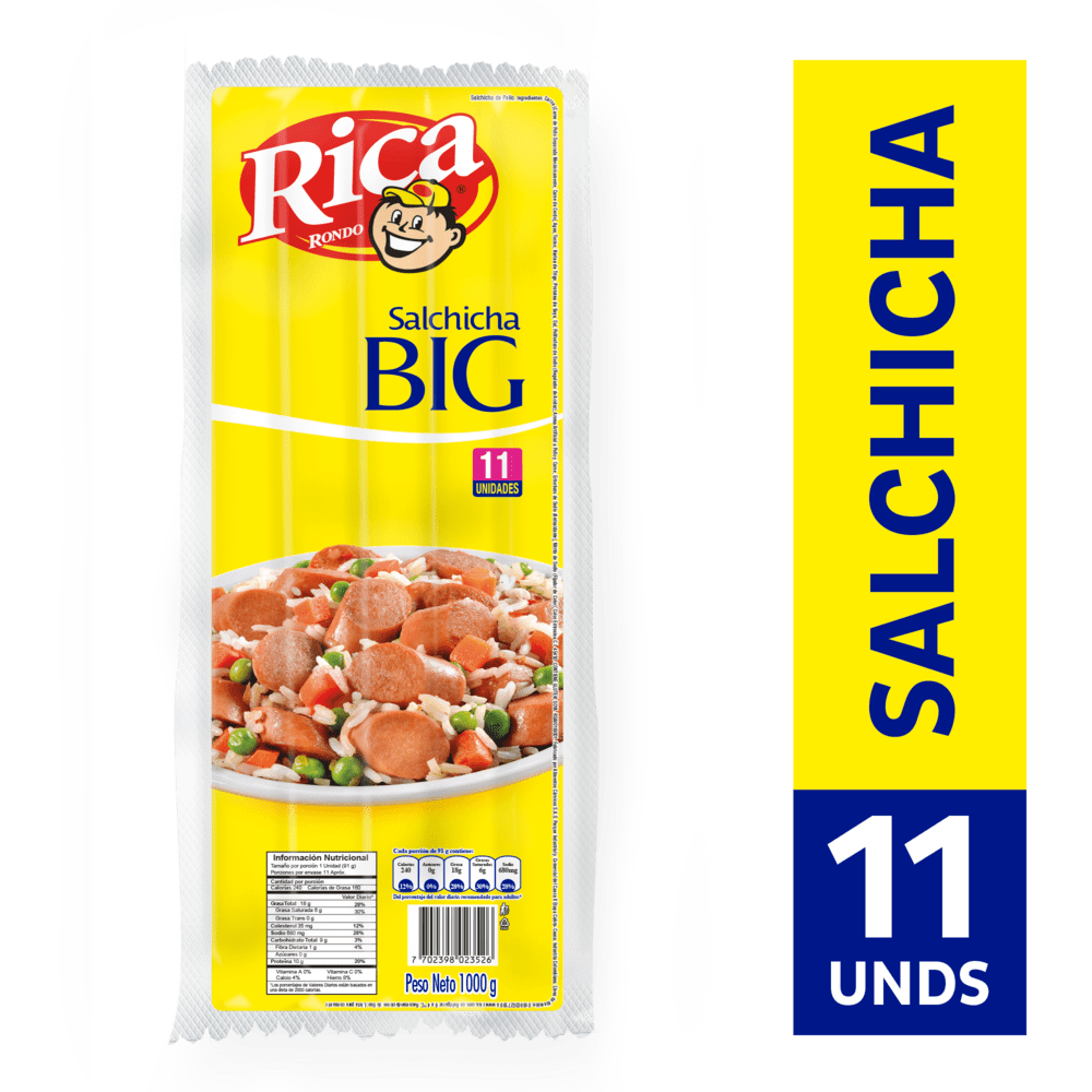 Salchicha Rica Big Res 1000 G