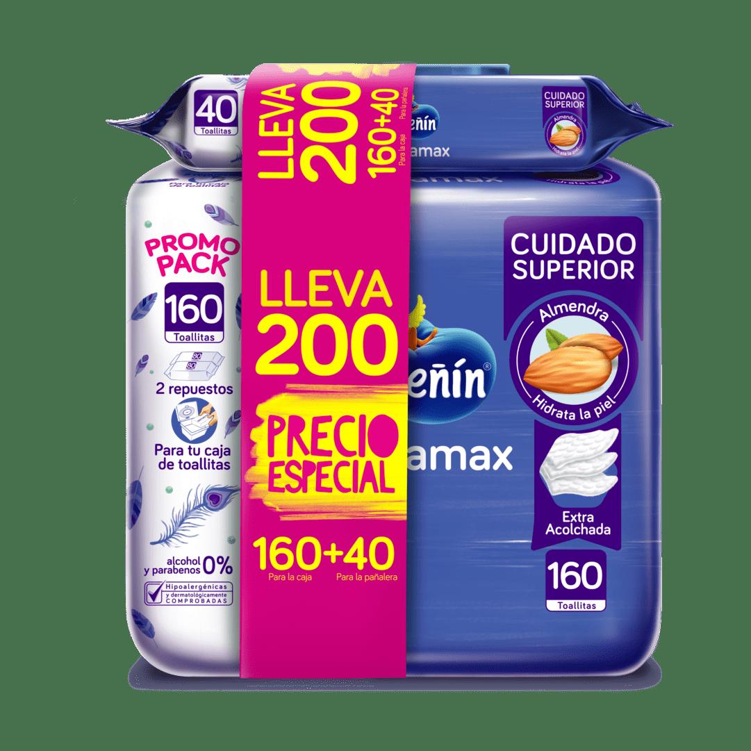 Toallitas Pequeñin Acolchamax 160+40 Precio Especial 200 Und