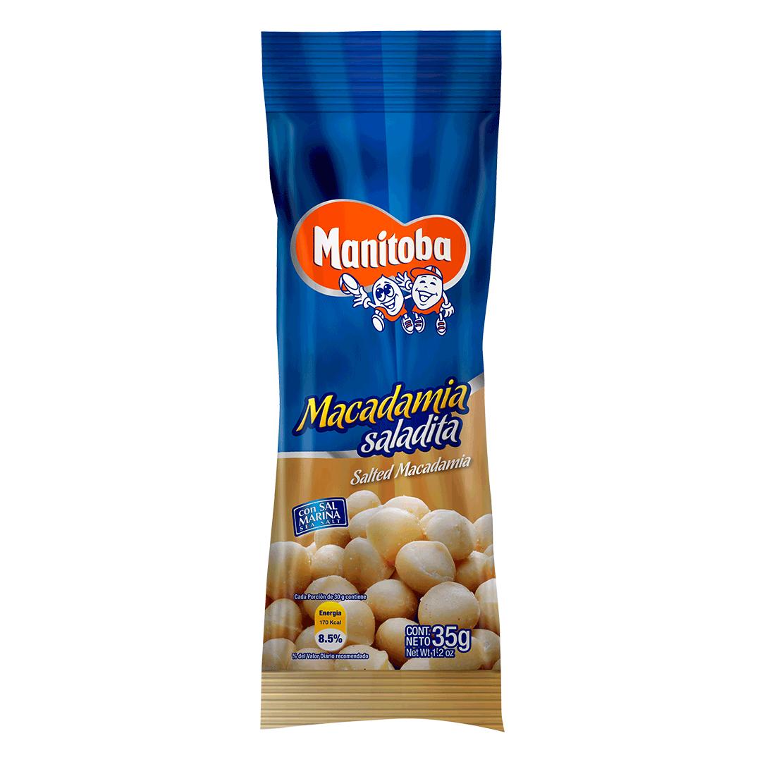 Macadamia Manitoba Con Sal 35 G