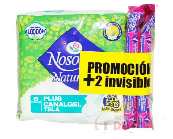 Toalla Nosotras Plus Inv. Clásica X 6 Und + 2 Inv Clásica