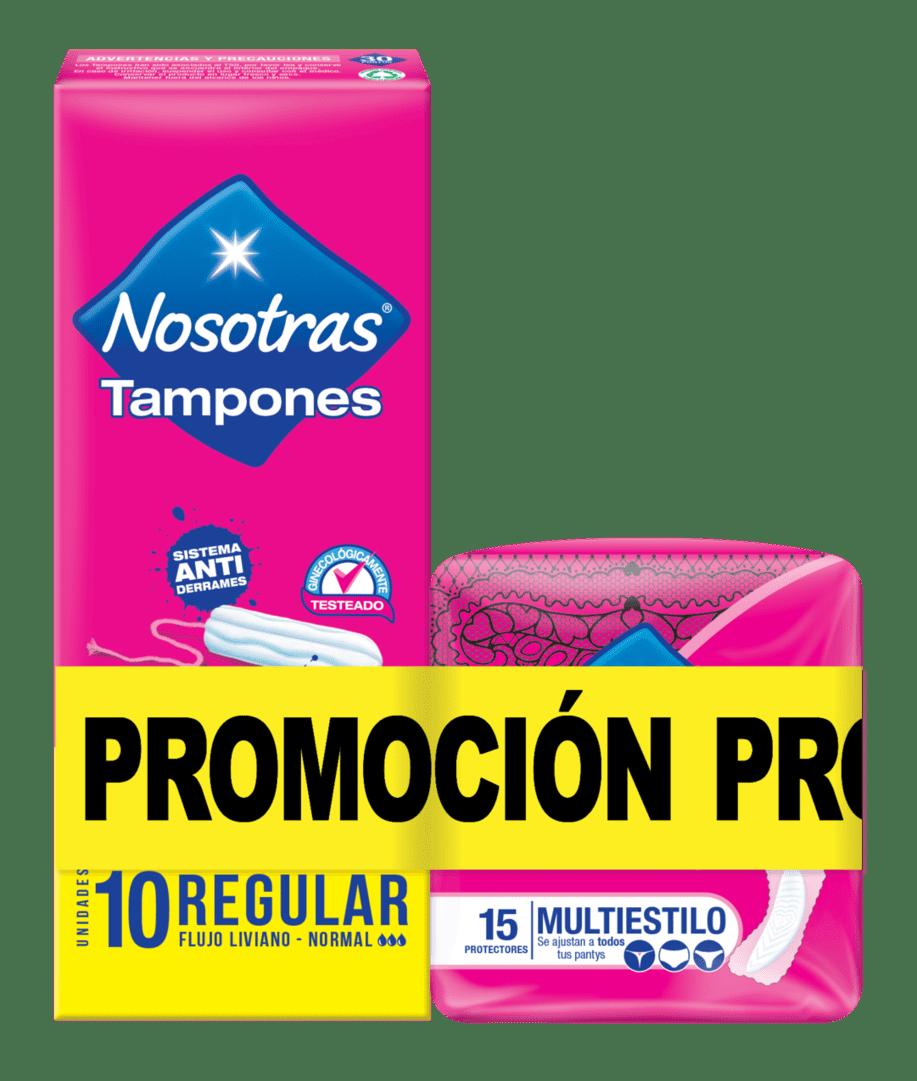 Tampon Nosotras Digital Sin Aplicador X 10+15 Multiestil