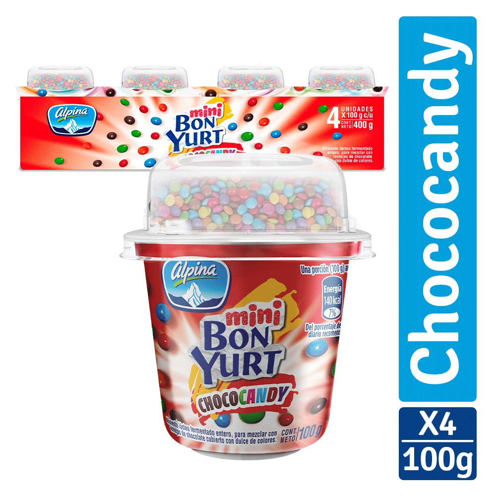 Multiempaque X4 Und Mini Bon Yurt Choco Candy Vaso 100G