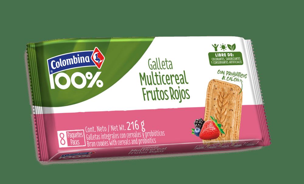 Galleta Crakeñas Probióticos X 8 Und Frutos Rojos 216 G