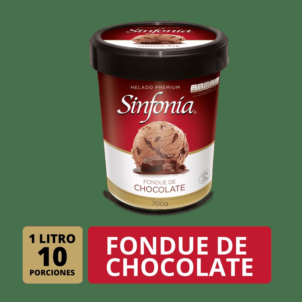 Helado Crem Helado Sinfonia Founde Chocolate 1 Litro/700 G