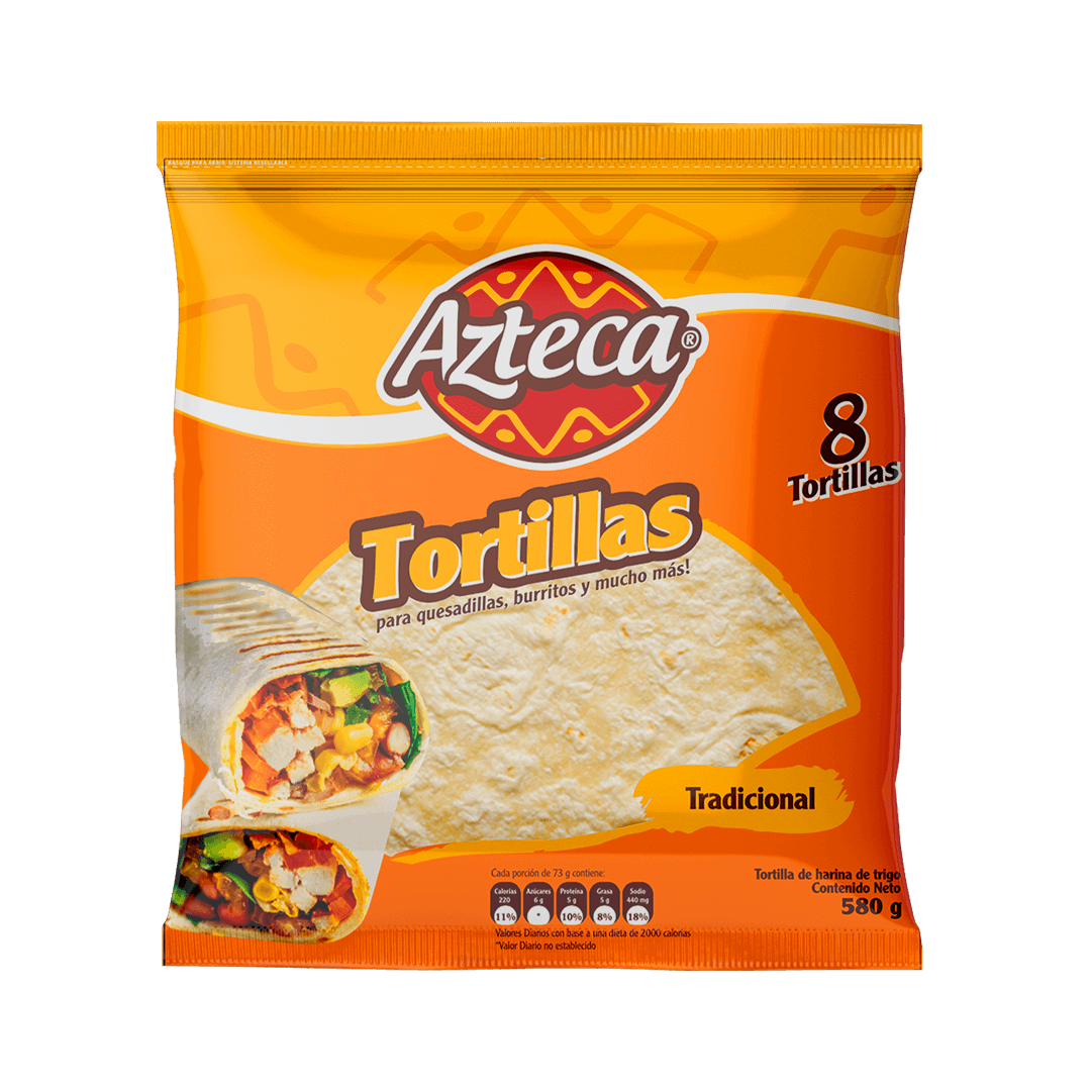 Tortilla Azteca X 8 Und Burrito 580 G