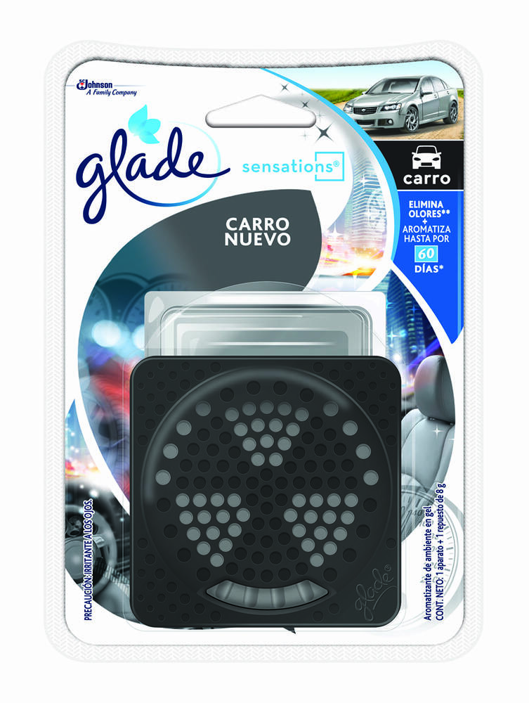Ambientador Glade Sensation Car Carro Nuevo 8 G