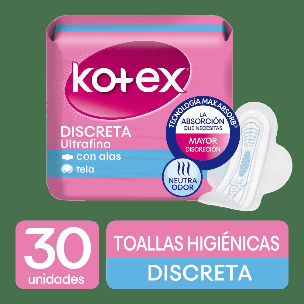 Toallas HigiNicas Kotex Ultrafina Tela W/W 30 Und