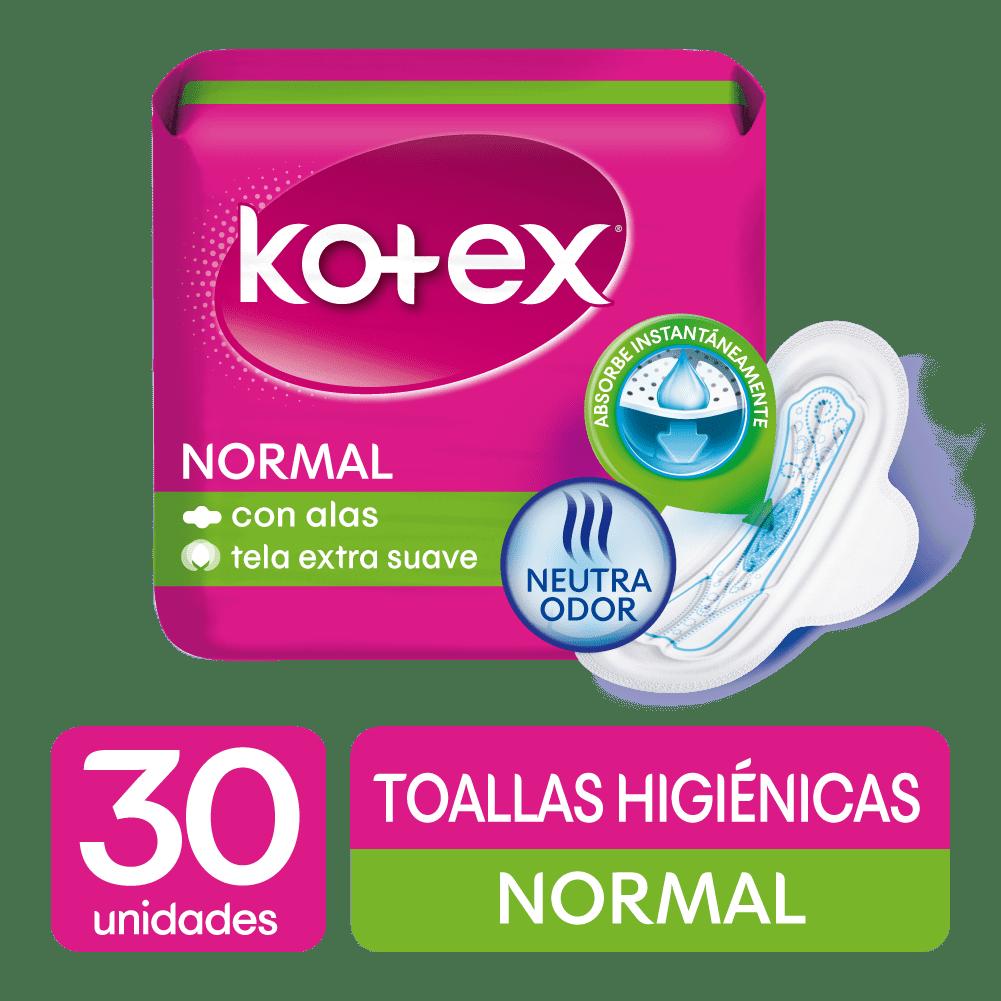 Toallas HigiNicas Kotex Normal Tela 30 Und