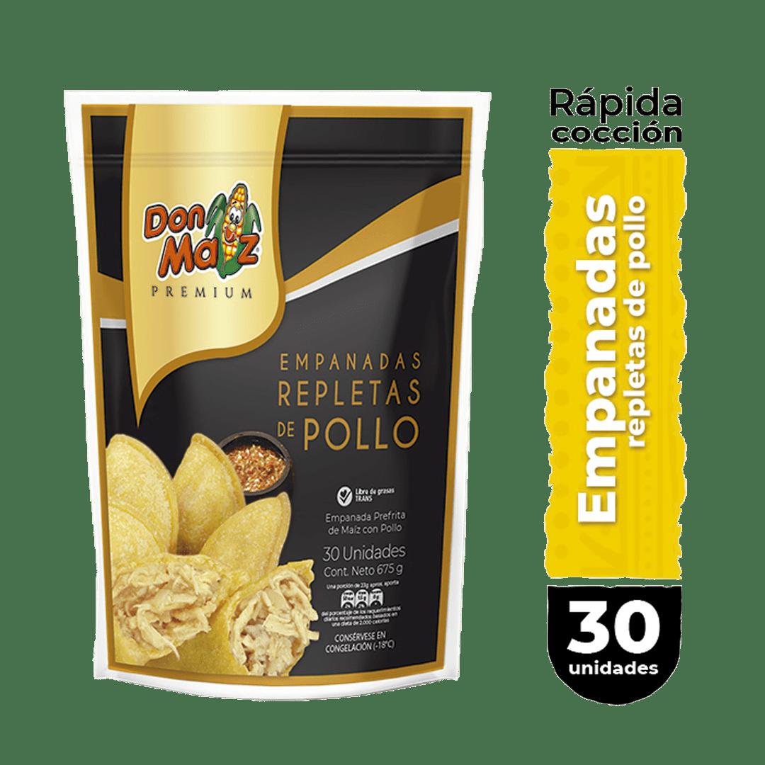 Empanadas Don Maíz Caseras De Pollo X30 Und 675 G