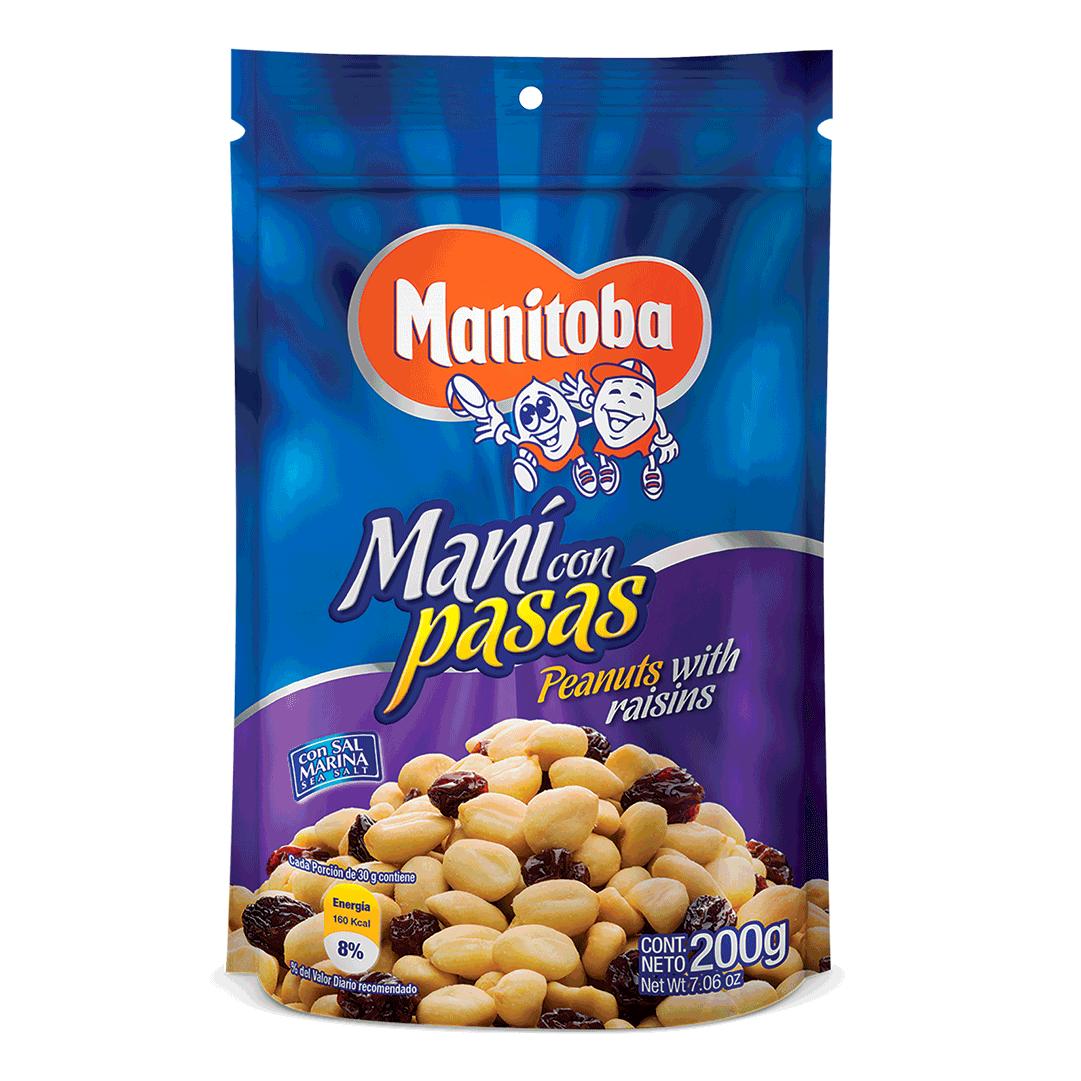 Maní Manitoba Con Pasas 200 G