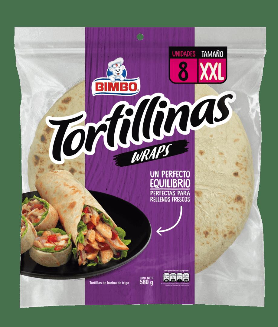 Tortilla Bimbo Blanca Wraps X8 Und 580 G