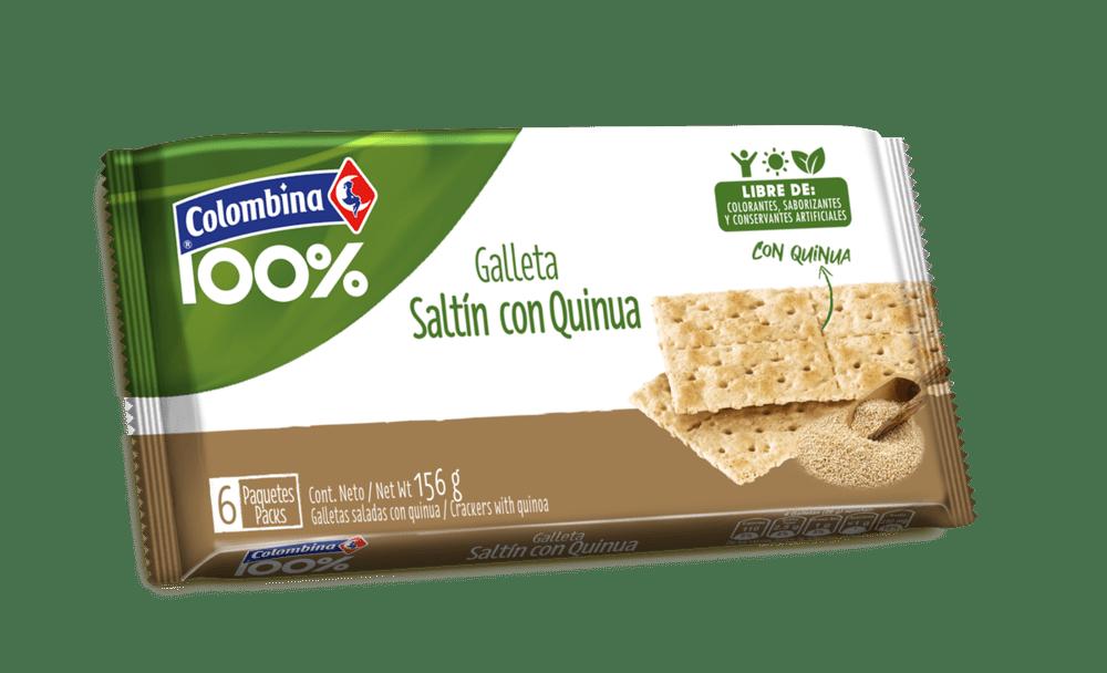Galletas Crakinua Saltin X6 Und Quinua 156 G