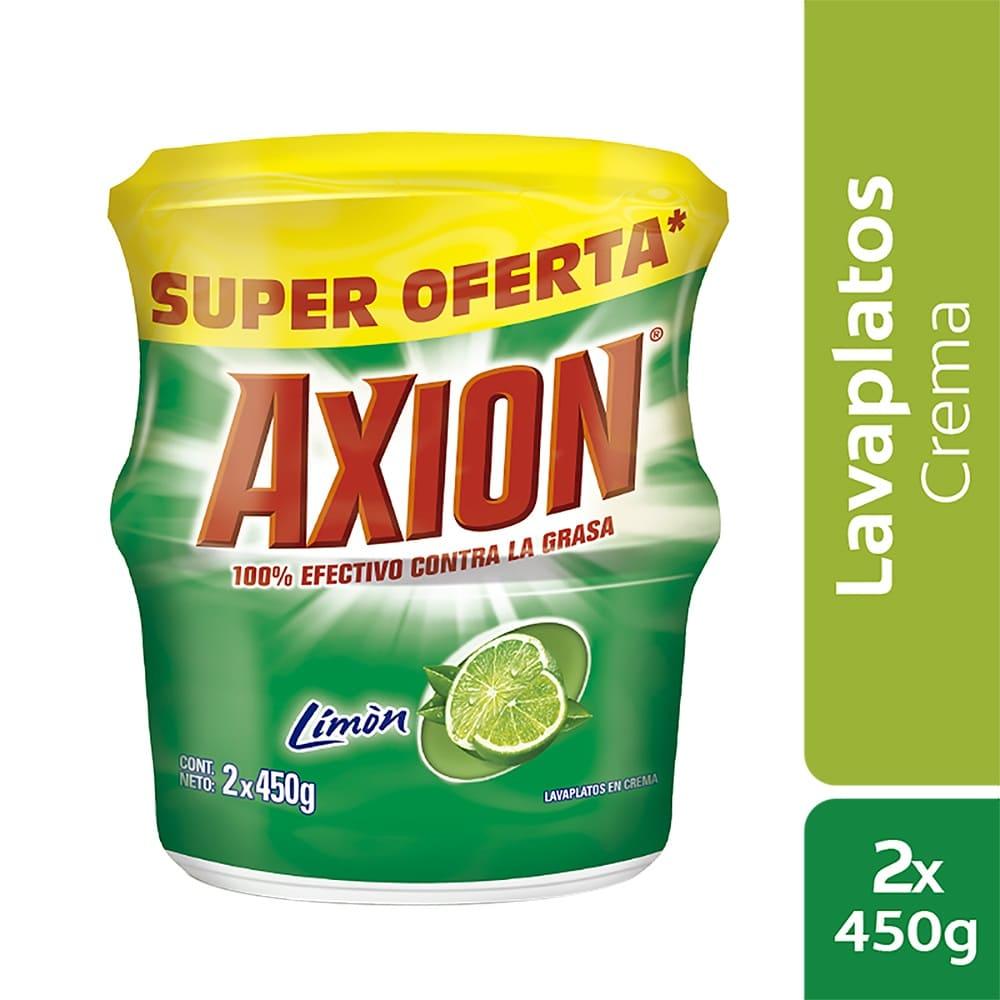 Lavaplatos Axión Limón Crema Precio Especial 2X450g $Esp