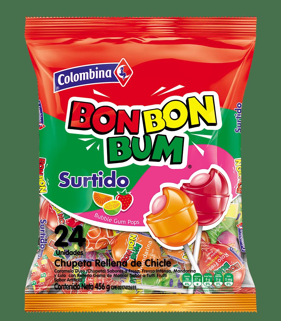 Dulce Bon Bon Bum X24 Und Surtido 456 G