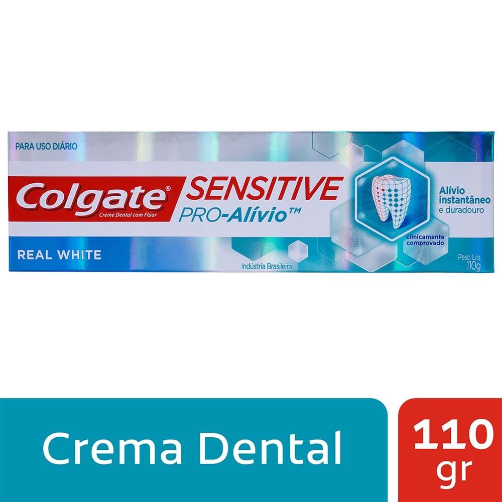 Crema Colgate Sensitive Pro Alivio Real White 110 G