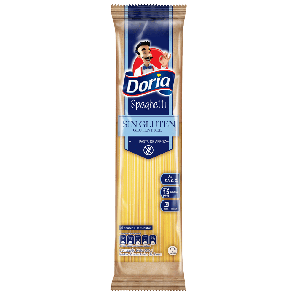 Pasta Doria Spaguetti Sin Gluten 250 G