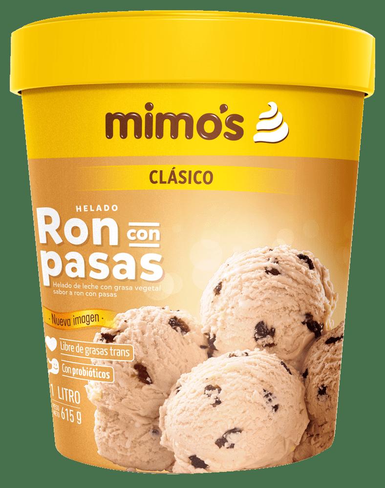 Helado Mimos Ron Pasas 1 Litro/560 G