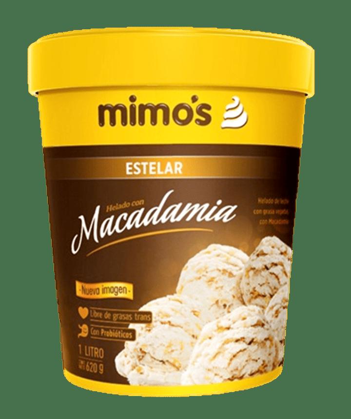 Helado Mimos Macadamia 1 Litro/630 G