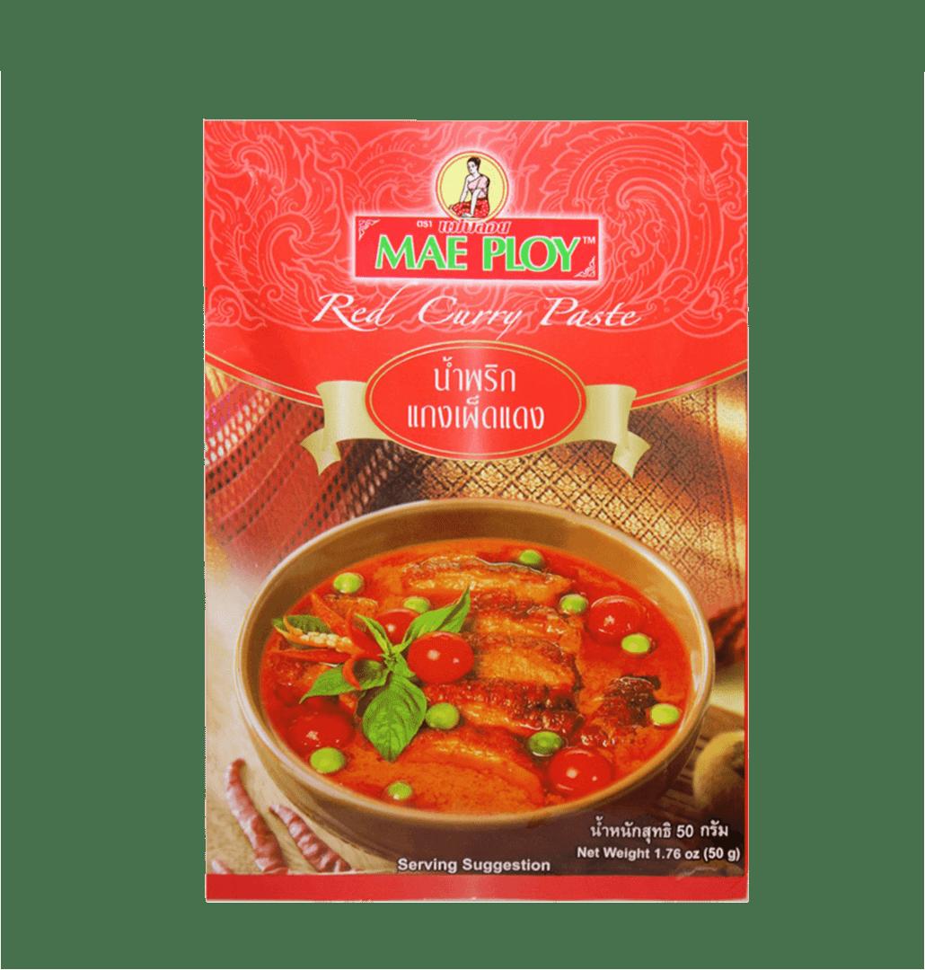 Pasta De Curry Mae Ploy Rojo 50 G