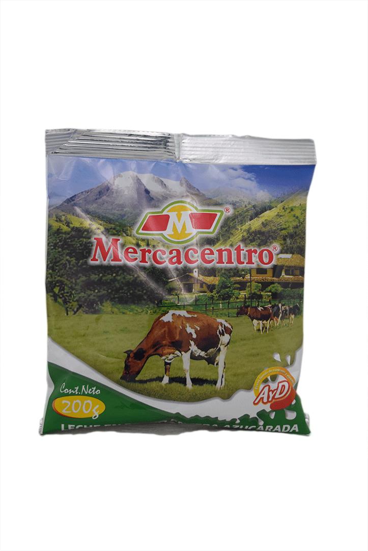 Leche Mercacentro Azucarada Polvo 200 G
