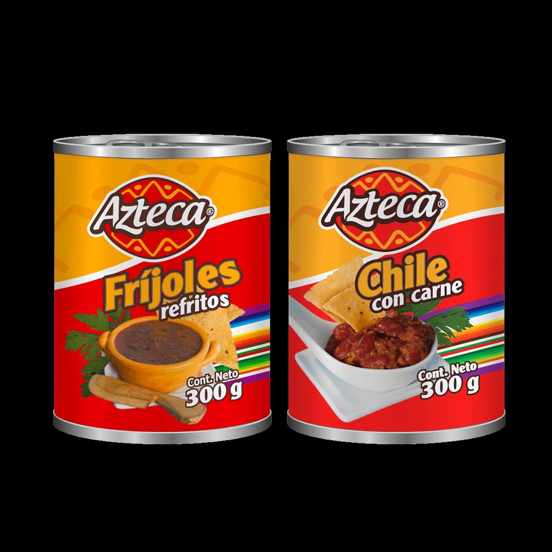 Chili Con Carne Azteca 300G + Fríjol 300 G P. Especial 600 G