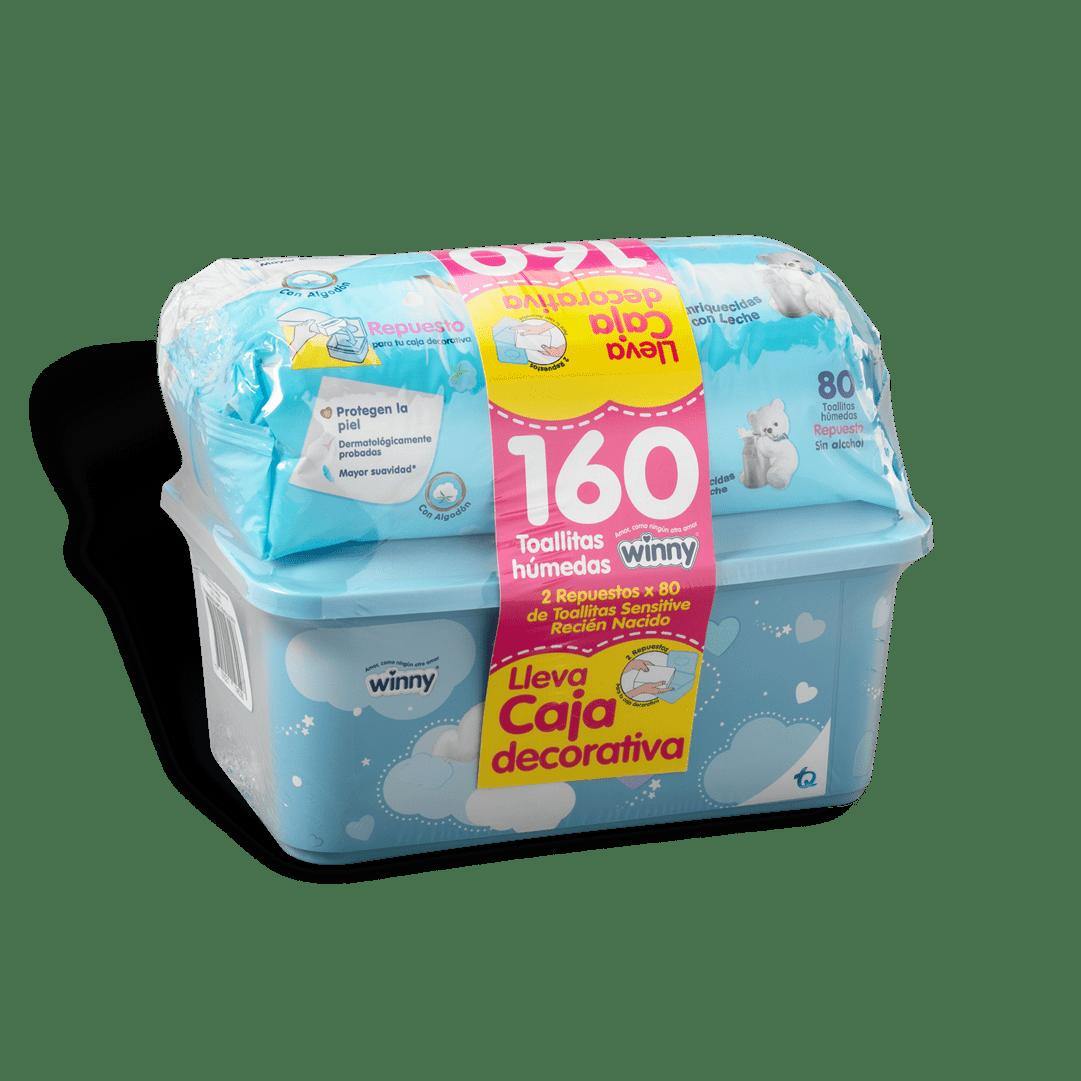 Toallitas Winny Caja ReciN Nacido 160 Und