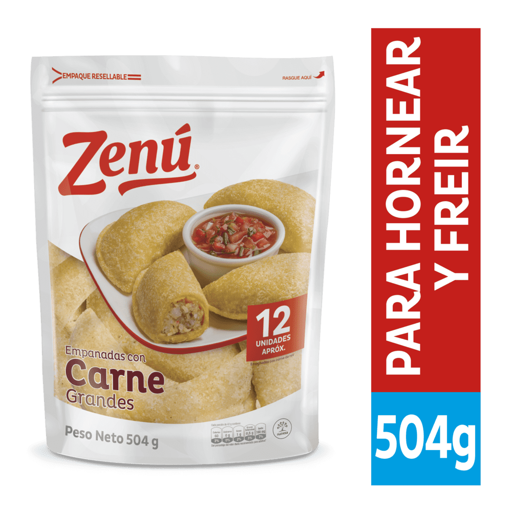 Empanadas De Carne Zenú X 12 Und / 504 G