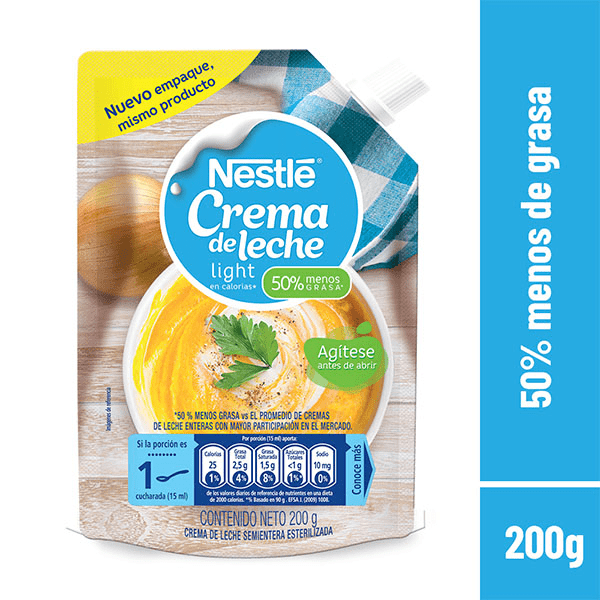 Crema De Leche Nestl Light Doypack 200 G
