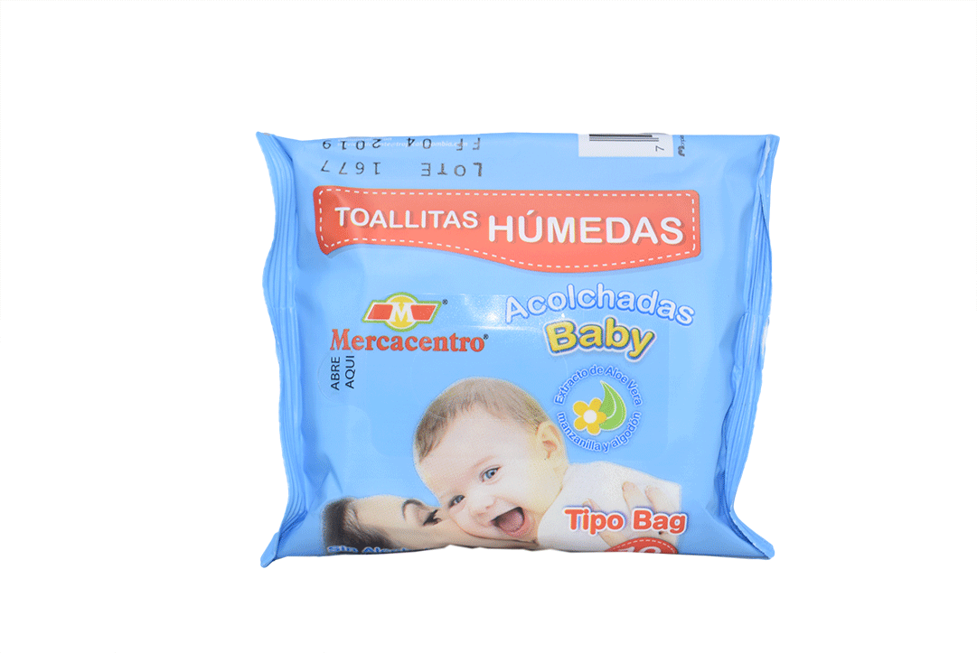 Toallitas Mercacentro Baby Humedas 10 Und