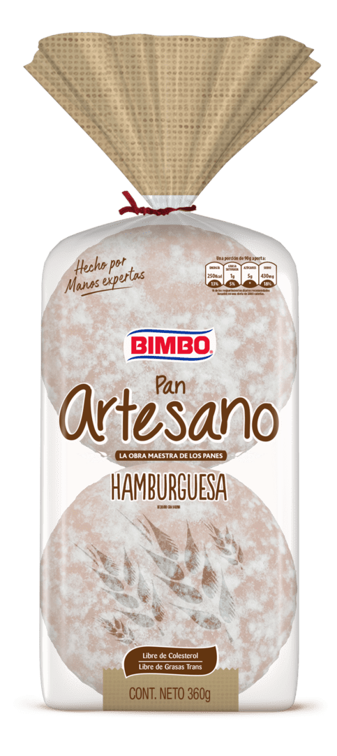 Pan Bimbo Artesano Hamburguesa X4 Und 360 G