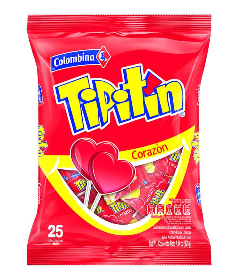 Chupeta Tipitín Cereza Corazón 25 Und
