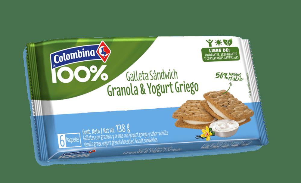 Galleta Crakeñas 100% Sándwich Yogurt Griego 138 G