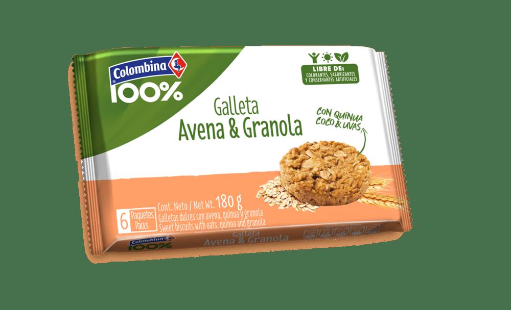 Galleta Crakeñas 100% Avena Granola 180 G
