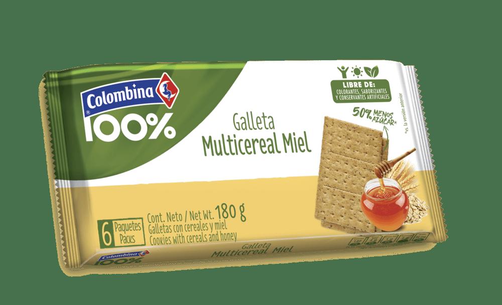 Galleta Crakeñas 100% Fibra Miel 180 G
