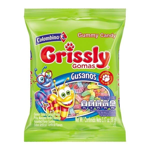 Gomas Grissly Gusanos 90 G