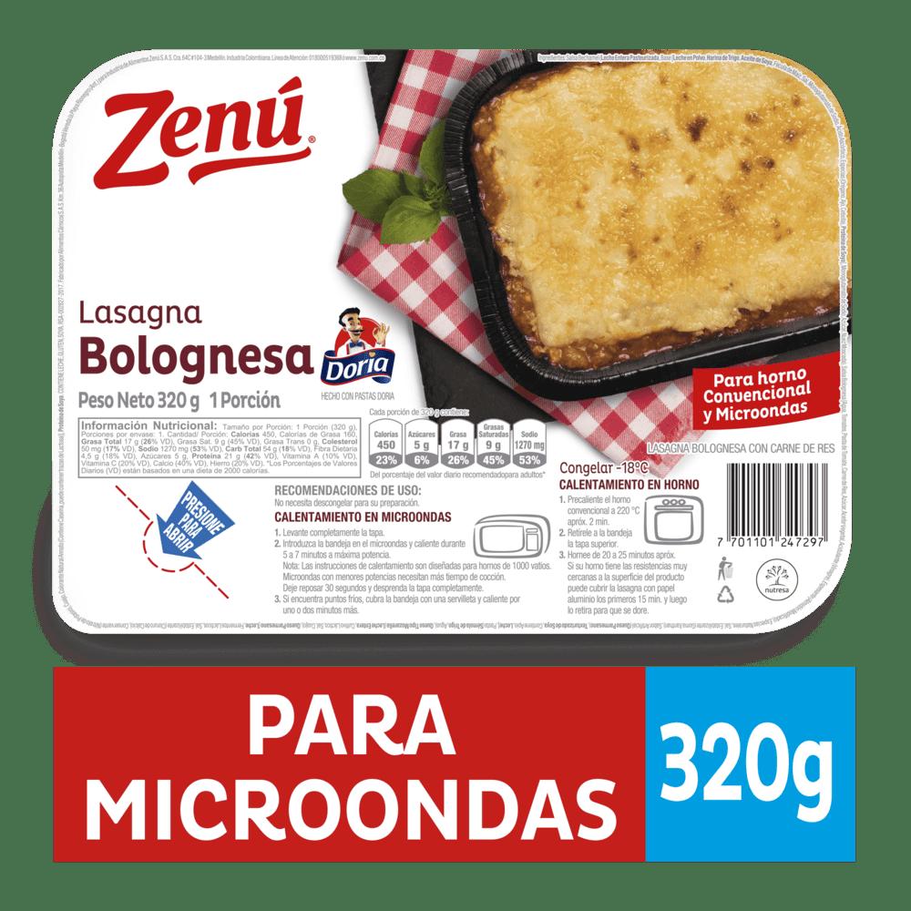 Lasagna Zenú Carne Bandeja 320 G